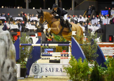13.01.2019 Martin Fuchs (SUI) mit Clooney Sieger Longines FEI Jumping World Cup™